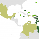 Map of CARICOM (full Members in dark green, Courtesy of Wikipedia)