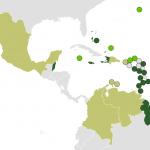 Map of CARICOM (full Members in dark green, Courtesy of Wikipedia)