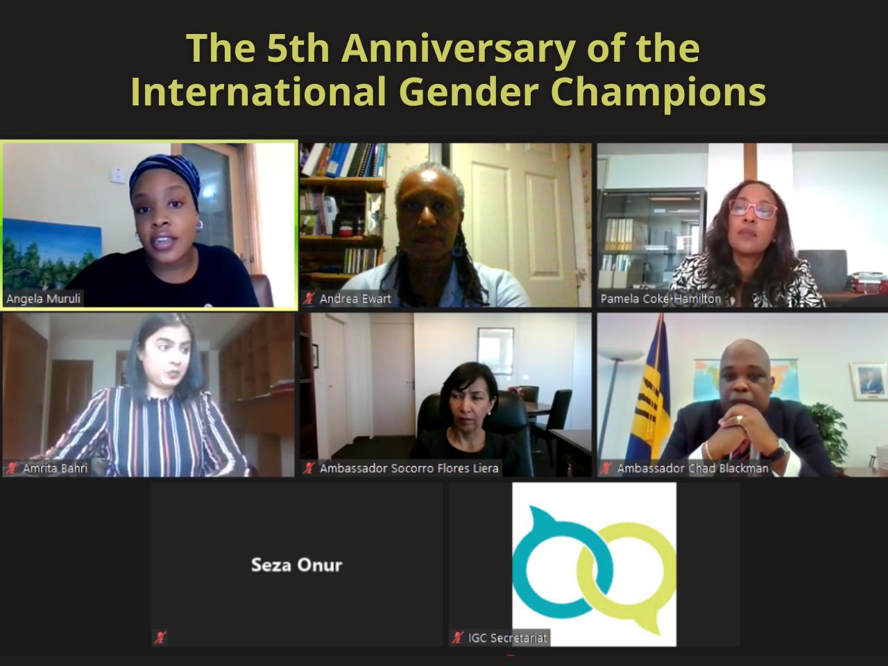 International Gender Champions IGC Webinar