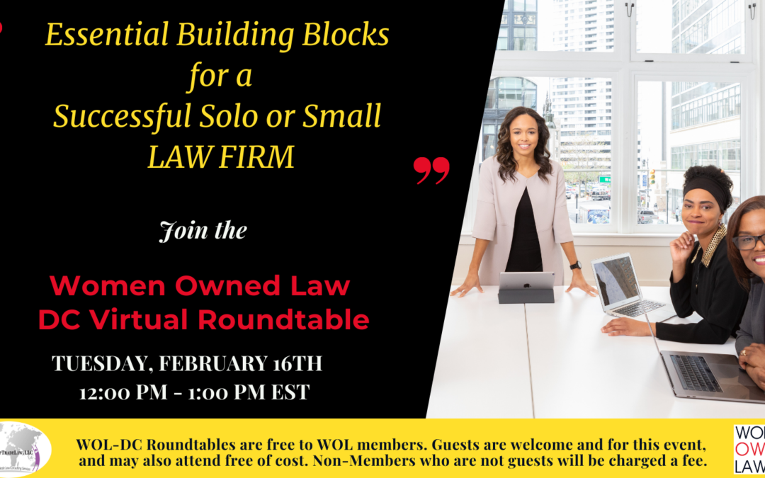 Essential Building Blocks For a Successful Solo or Small Law Firm