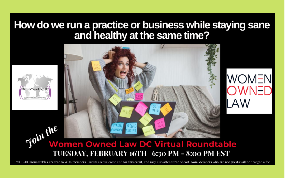 Women Owned Law (WOL) DC February Virtual Roundtable